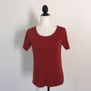 Ann Taylor Loft Rust Tee Shirt